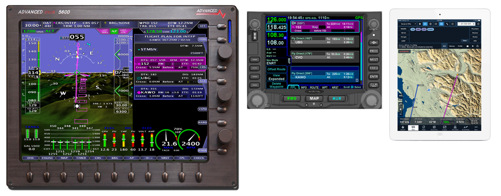 AF-5000 Series with Avidyne Flight Plan integration and ForeFlight Flight Plan Transfer via Wi-Fi