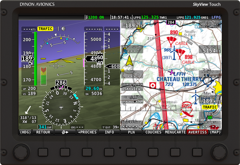 SkyView 13.0 - Parlez vous Francais? (German language also available) French ICAO charts also shown.