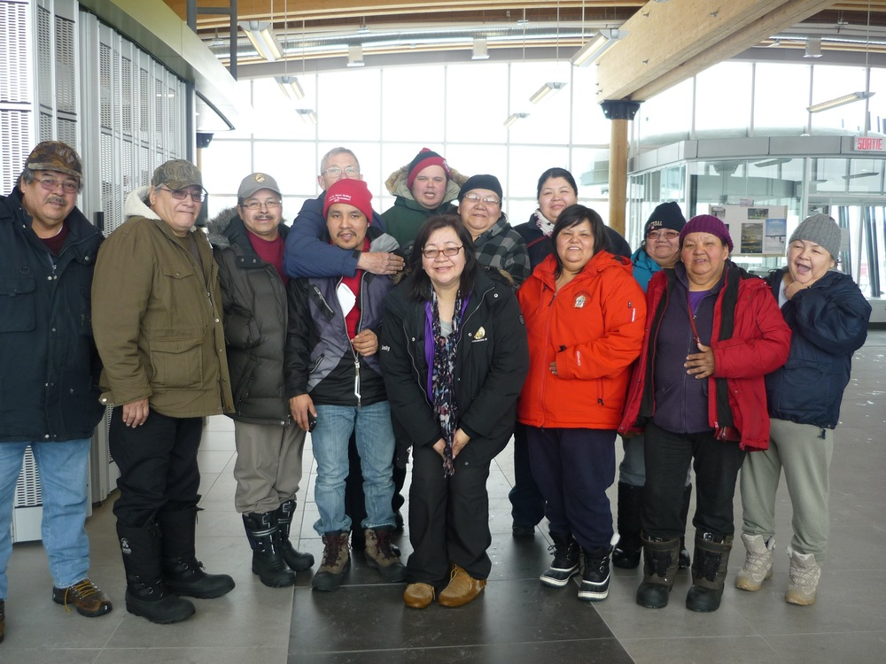 Saying goodbye to our friends in Waskaganish