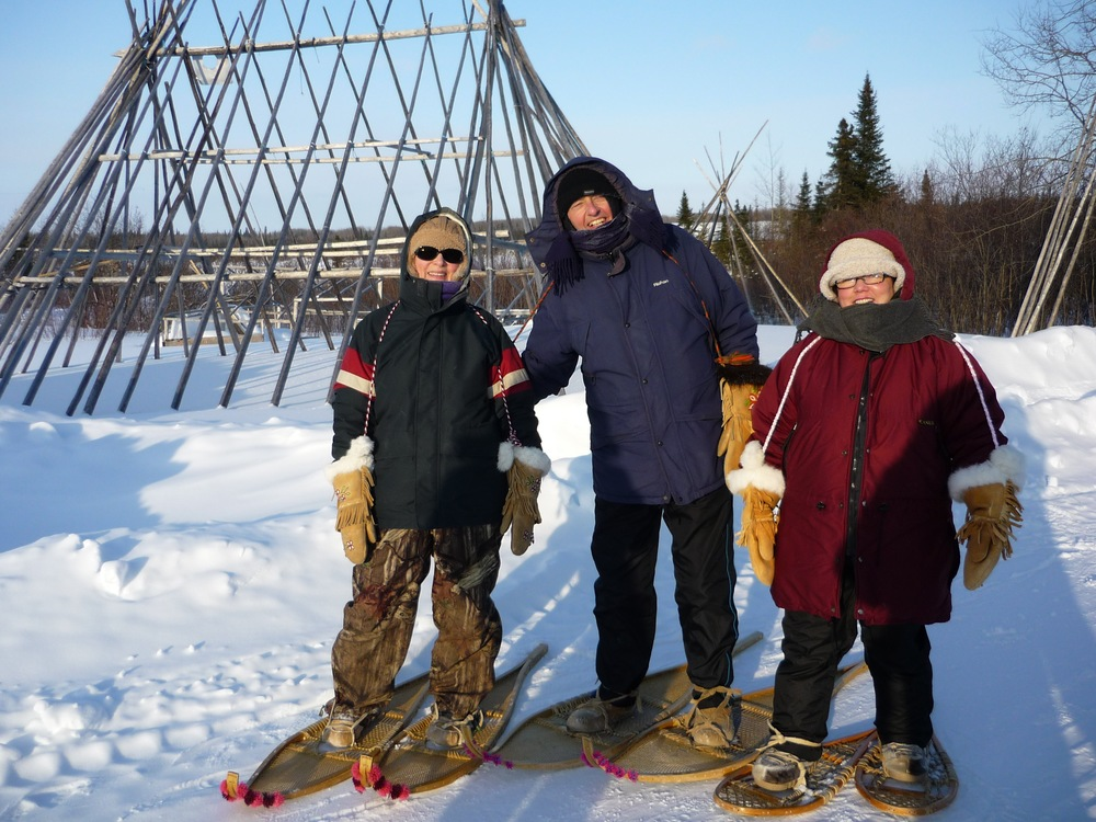 Snow-shoeing in Waskaganish, Canada