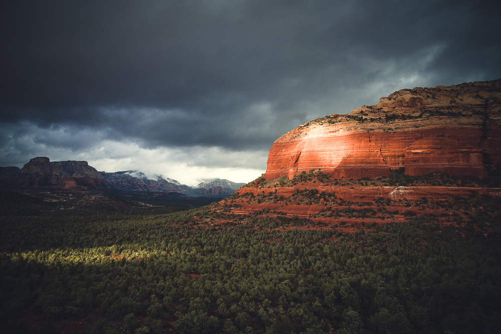 Passing Storm. Sedona, Arizona.