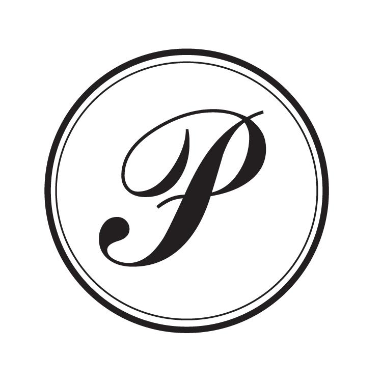 p monogram round stamp  u2014 pretty in ink stamps