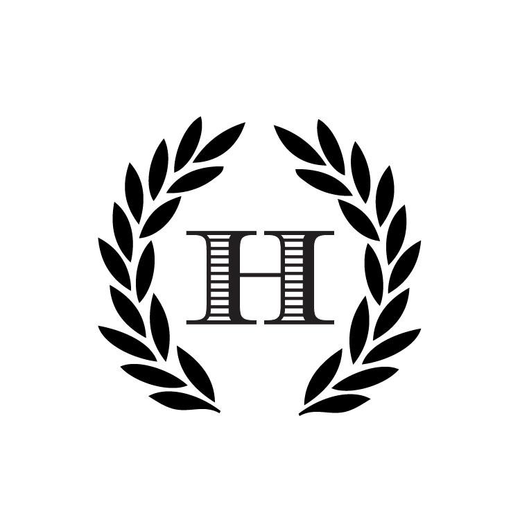 h monogram round stamp  u2014 pretty in ink stamps