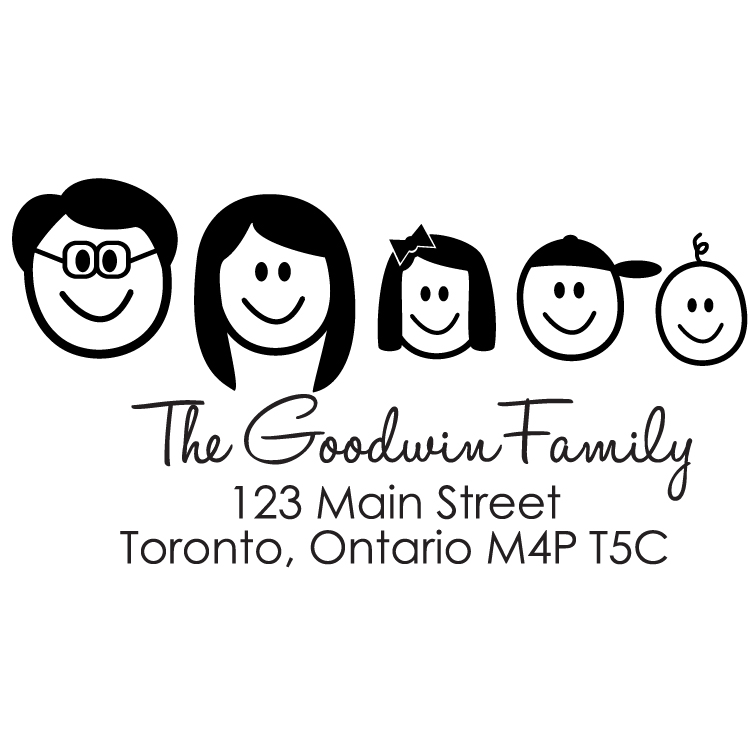 goodwin family faces rectangle stamp pretty in ink stamps