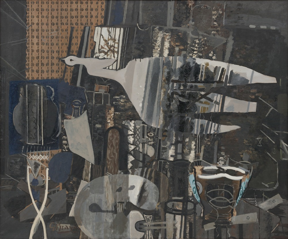 "Georges Braque, Studio V, 1949-50, oil on canvas, 57 7/8 x 69 ½,"" MoMA, NYC"