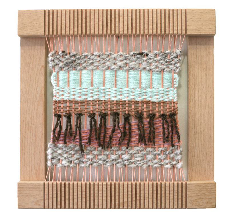 Pink Weaving on Loom