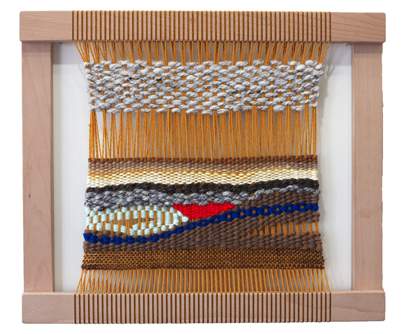 Ochre Weaving on Loom
