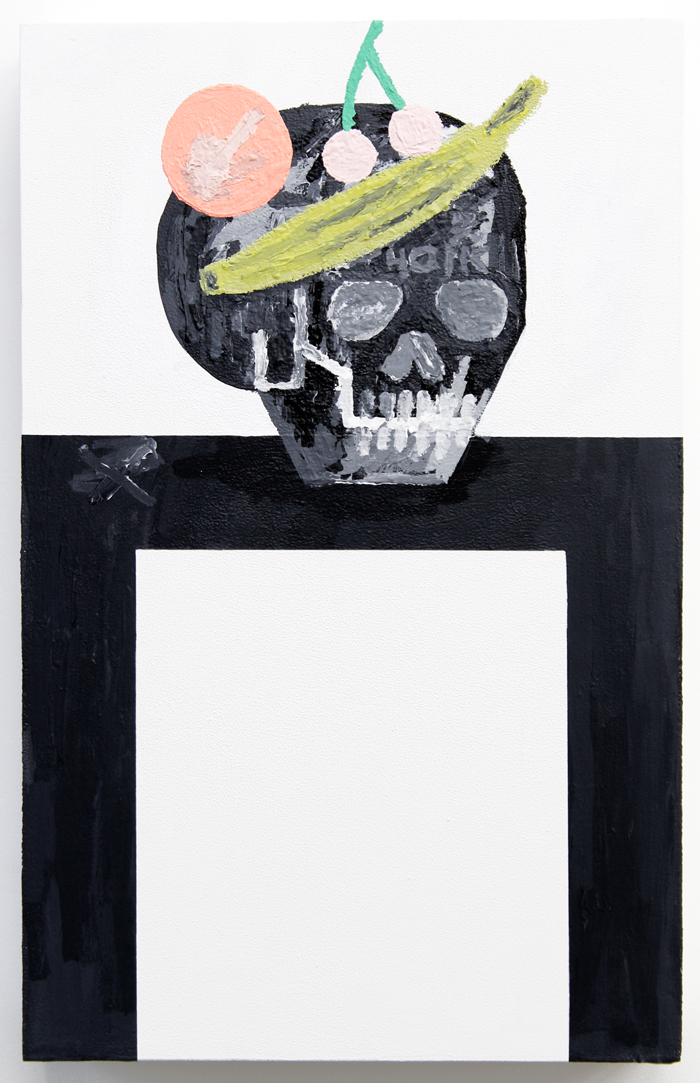 Feast for the Eyes #1 , 2015, acrylic on wood, 22 x 14""