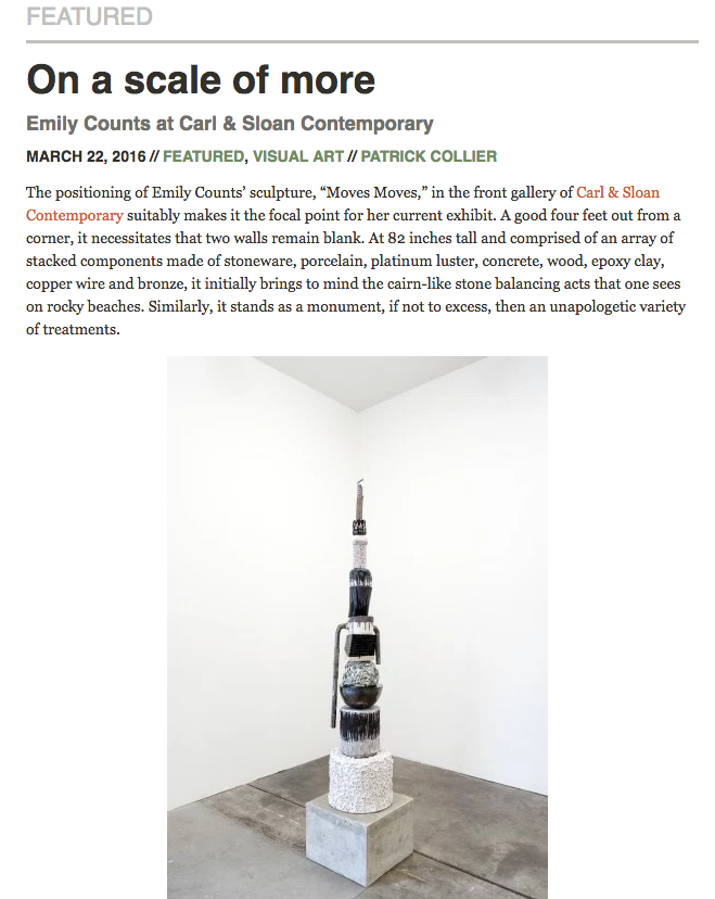 Emily Counts at Carl & Sloan reviewed on Oregon ArtsWatch
