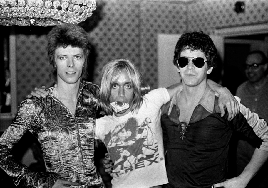 Mick Rock,  Bowie, Iggy and Lou, Dorchester Hotel , 1972