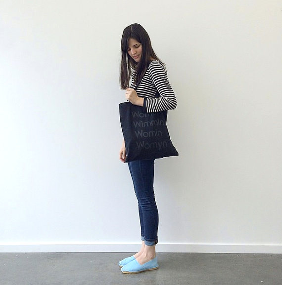 Tote bag by MODERNWOMEN LA, modeled by Emma