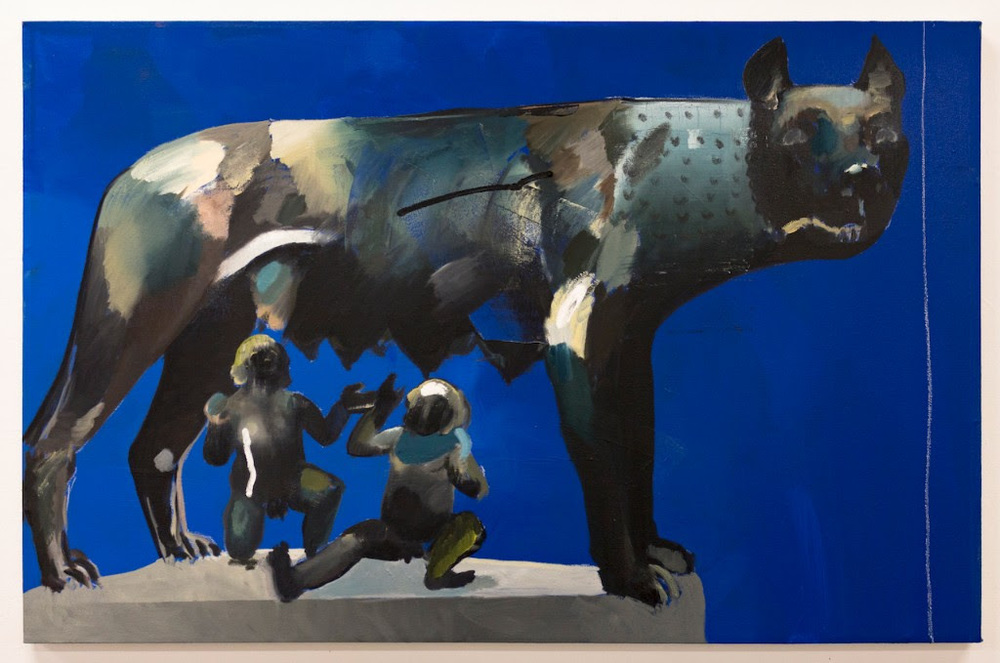 William Matheson, Remus and Romulus, 2016, oil on canvas, 32 x 46""