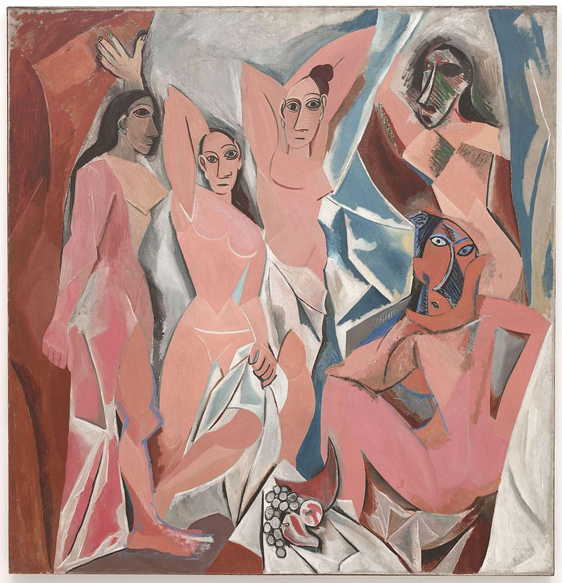 Pablo Picasso,  Les Demoiselles d'Avignon , 1907, oil on canvas, Collection of MoMA (NY)