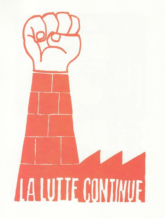 """the struggle continues"" / mai 68 poster"