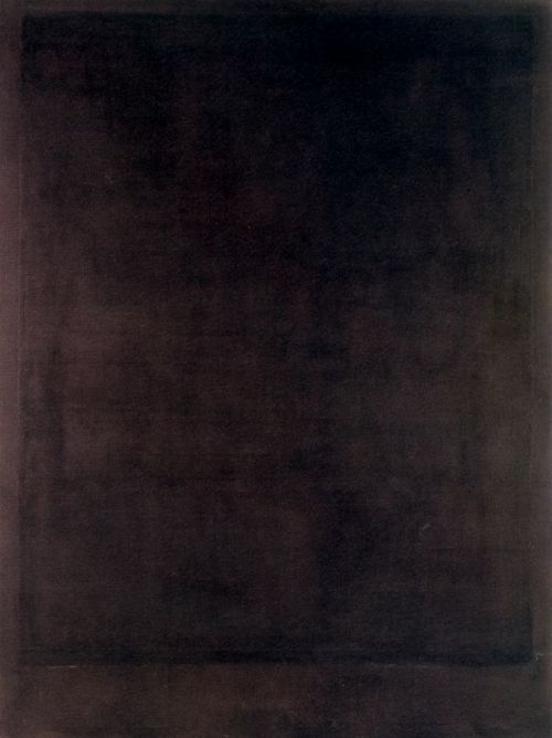 One of Mark Rothko's  Black Form Paintings (  No. 8 ), 1964.