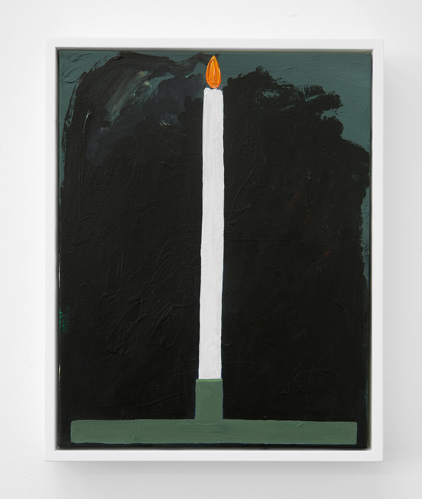 Summer Candle (Méaudre) , 2018, acrylic on canvas, 14 x 11 inches