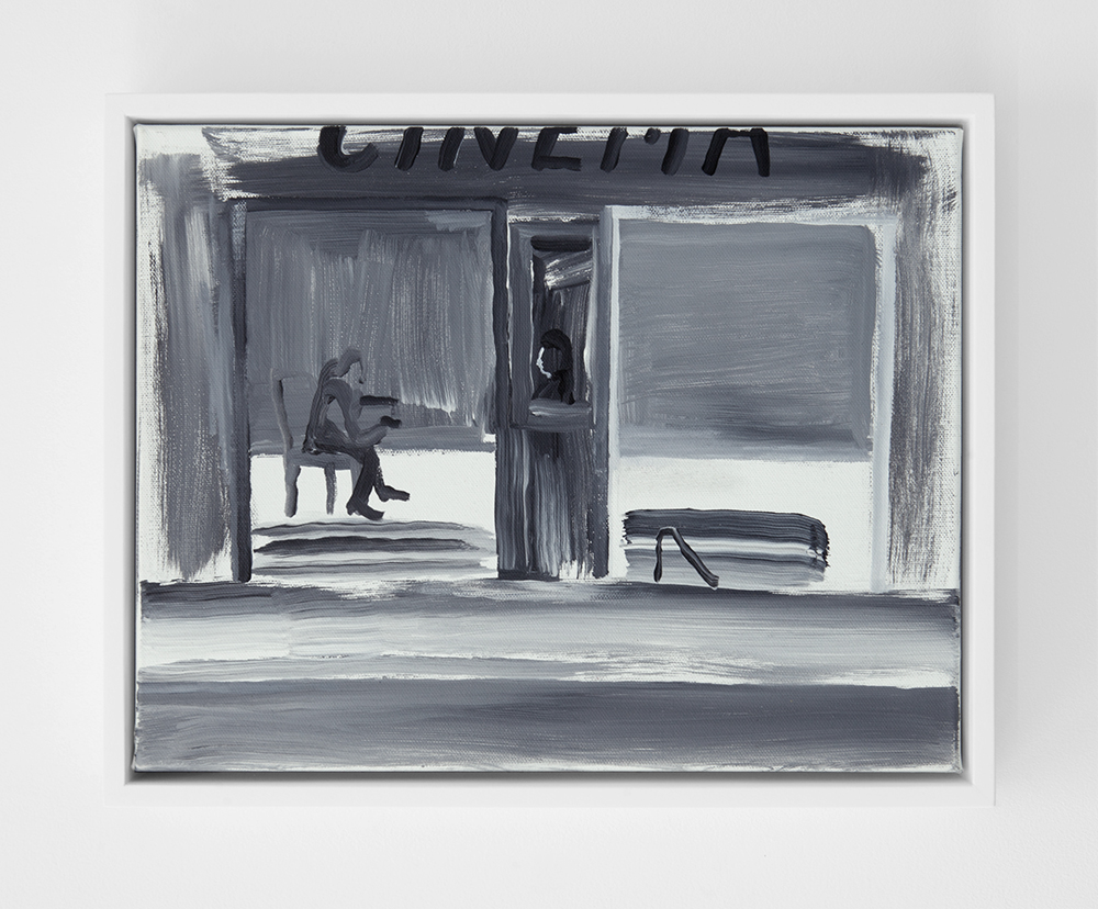 Ty Ennis,  Cinéma No. 2 , 2018, acrylic on canvas, 11 x 14 inches