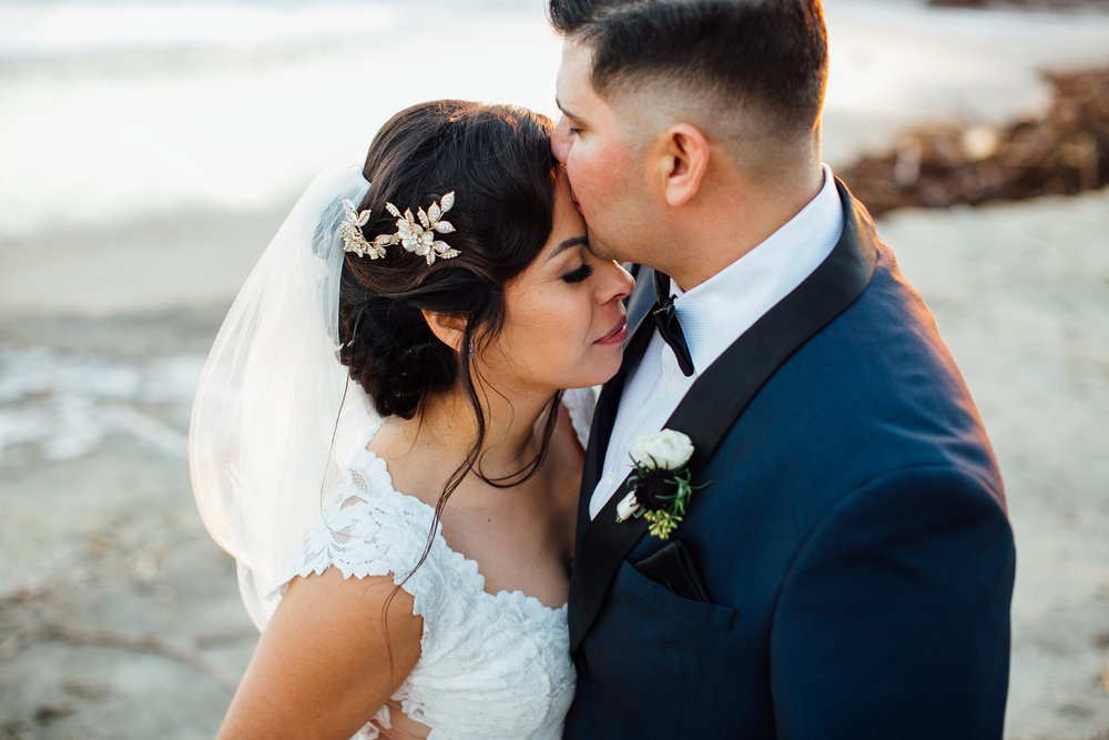 m-b-malibu-west-beach-club-wedding-couple-portrait-close-forehead-kiss