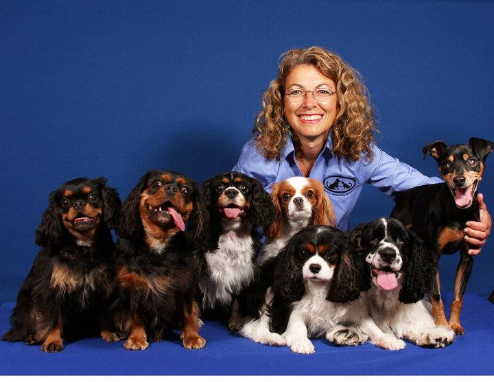 Dr. Judy Morgan poses with a few of her friends.