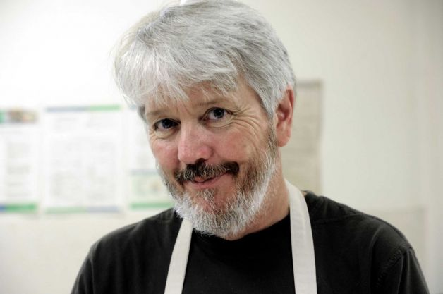 Paul in the New Milford kitchen, photo by Carol Kaliff.