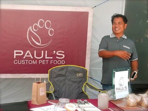 Manny after setting up a booth in LA, summer 2014.