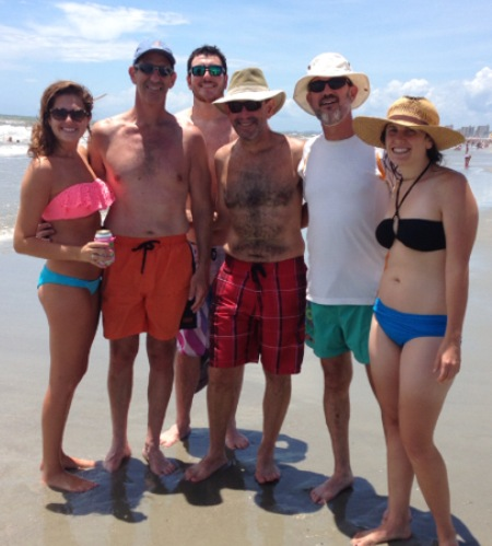 Some of the family on the beach
