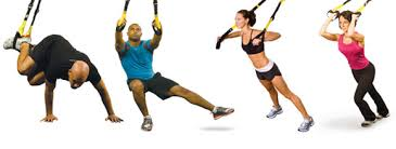 There are some examples of what you would do during a TRX class.