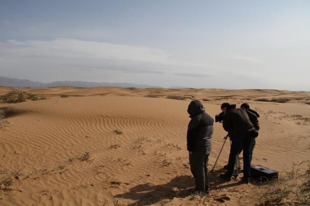 Filming Gobi Desert, Inner Mongolia