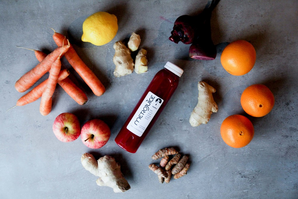 Roots+ is a cold pressed juice we designed to provide a healthy dose of anti-oxidant vitamins, minerals, and phytonutrients, including unique betacythins, the red-purple pigment in beets.