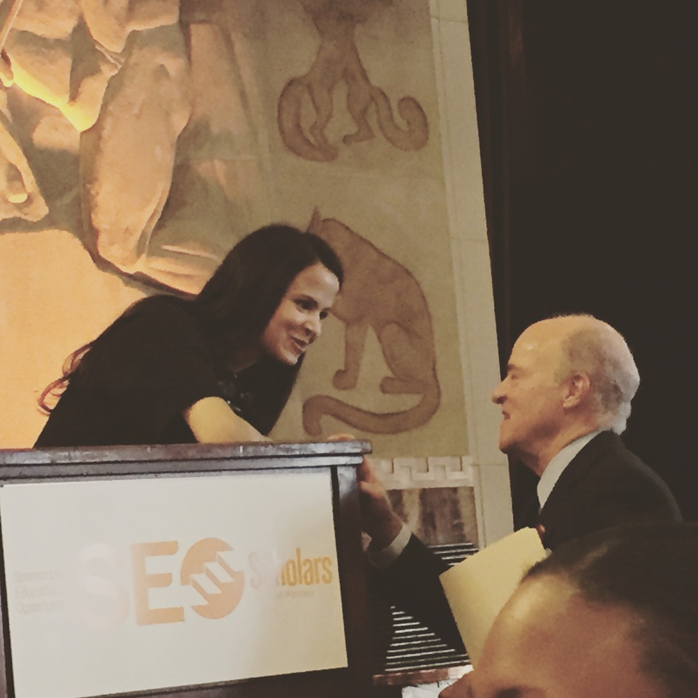 Recently, I was the emcee for SF SEO Scholars 2015 graduation.  Here are some pics (one with Henry Kravis providing some great pre-program words)