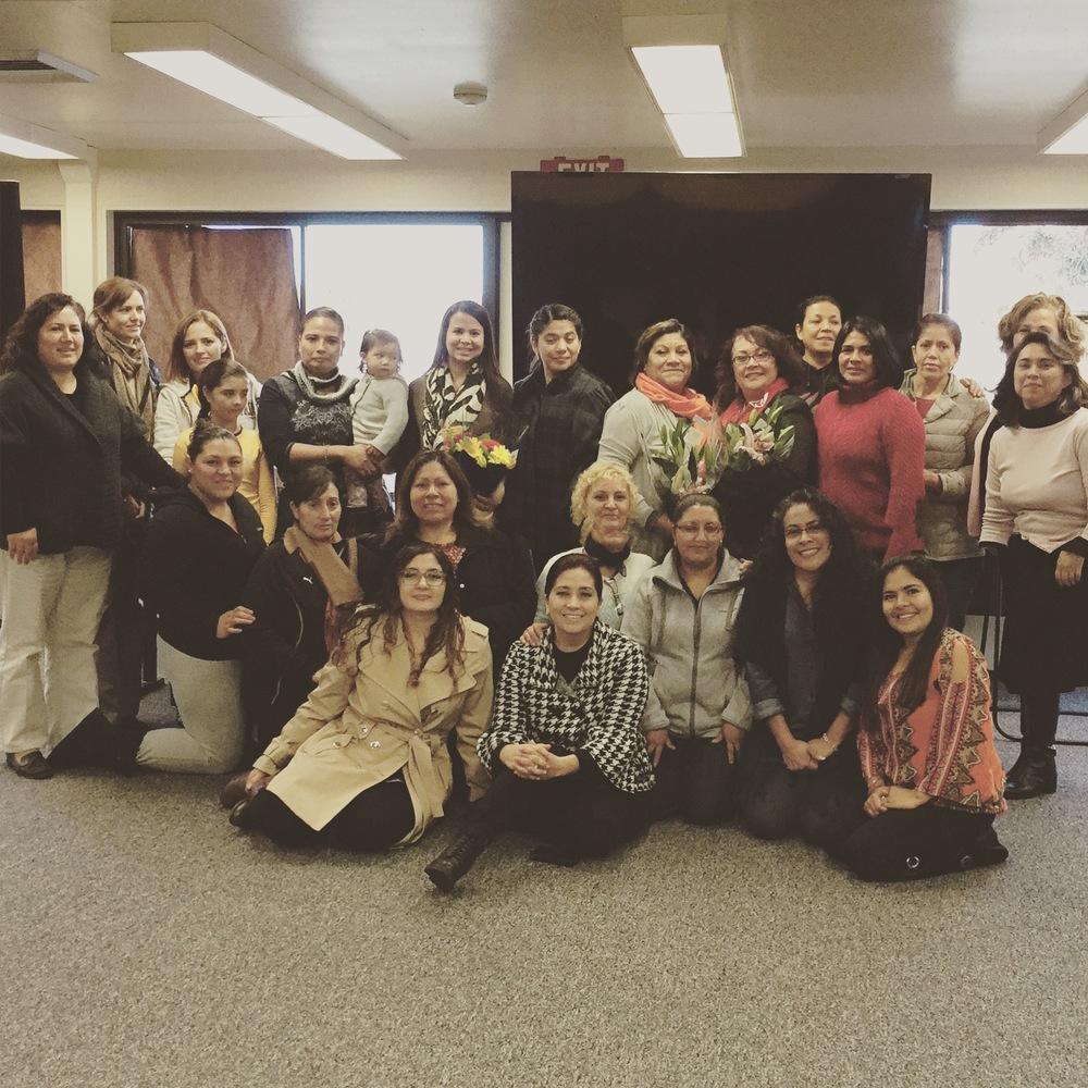 Recientemente, terminando un taller maravilloso con mujeres increiblemente poderosas