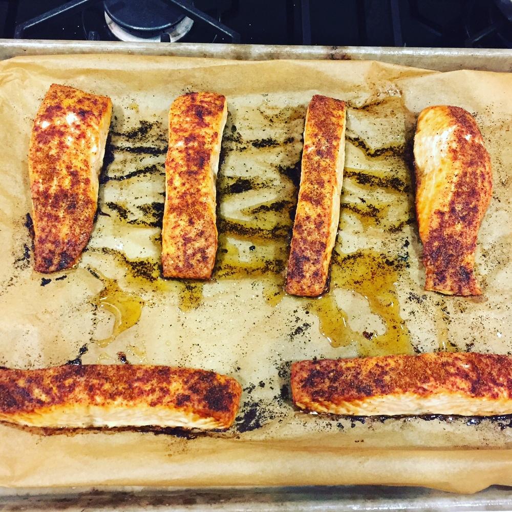 Acompaña esta ensalada con un salmón picante…¡Delicioso!