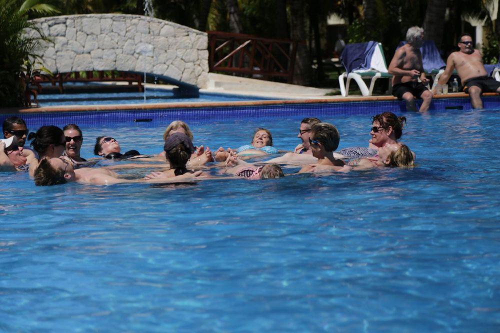 My aerobics class, super fun!