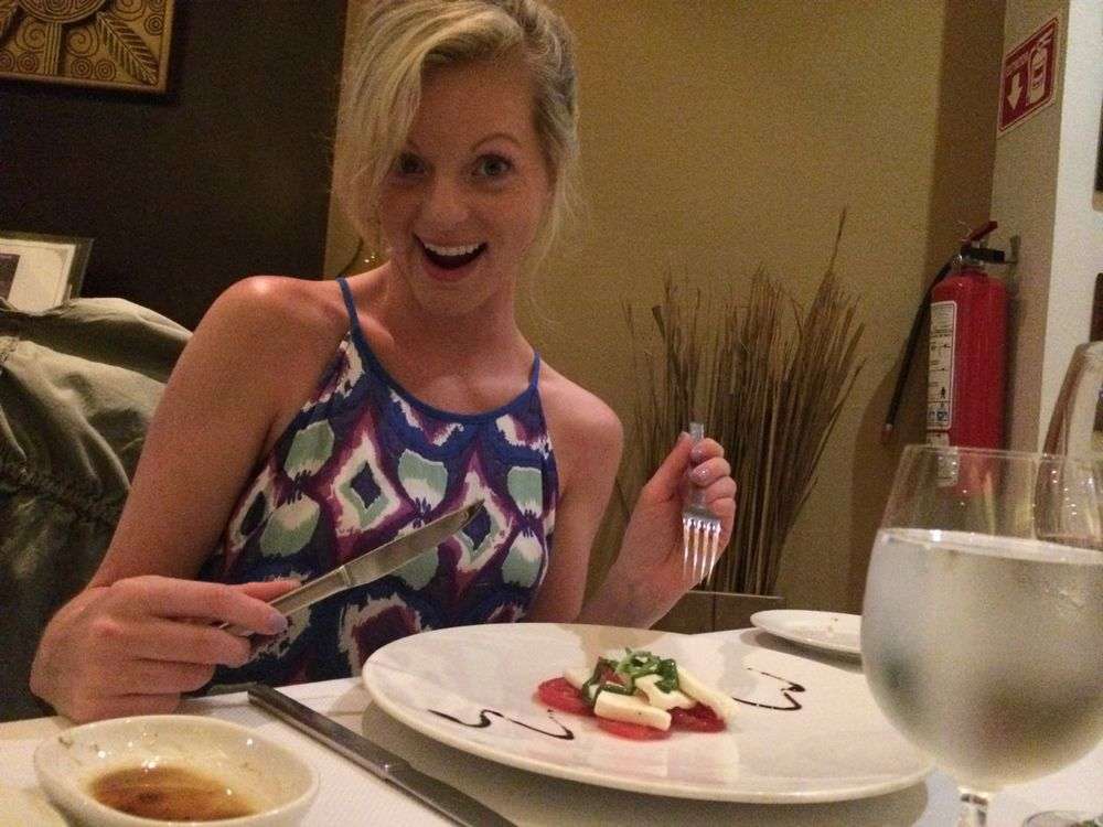 yep, that was my fancy salad at the italian restaurant That's right folks fancy = small!.