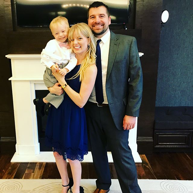 This family had a blast celebrating my little bro @jonathandpfeiffer and his beautiful bride @baberning get married! And not to mention, this mama was super happy this ring bearer actually made it down the aisle! A good day indeed!  #jandbadventures #littlebrogotmarried #newsister #happyday