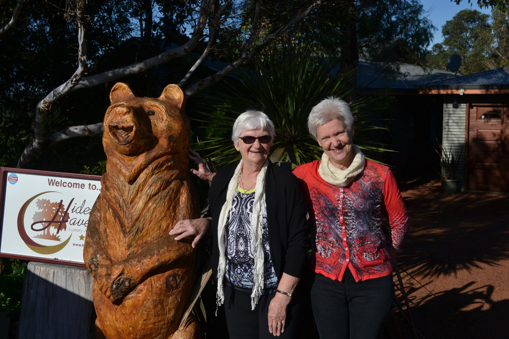 Cath and Ruth at HideAway Haven Luxury Accommodation Albany