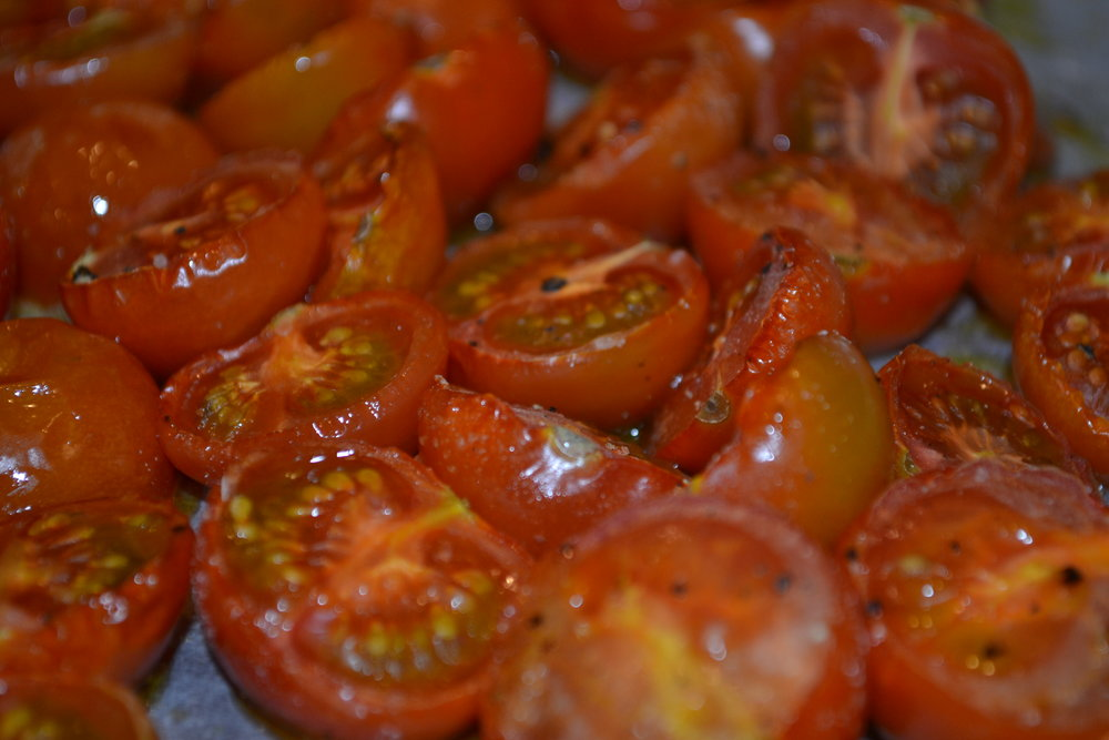 Roasted Grape Tomatoes at HideAway Haven