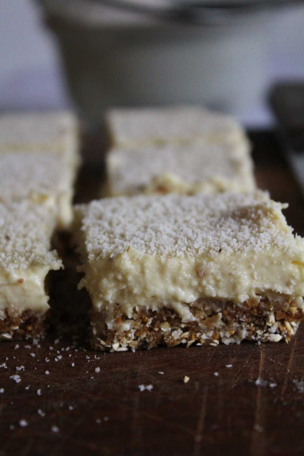 RAW Lemon Coconut Bars - Sweet Treat at HideAway Haven