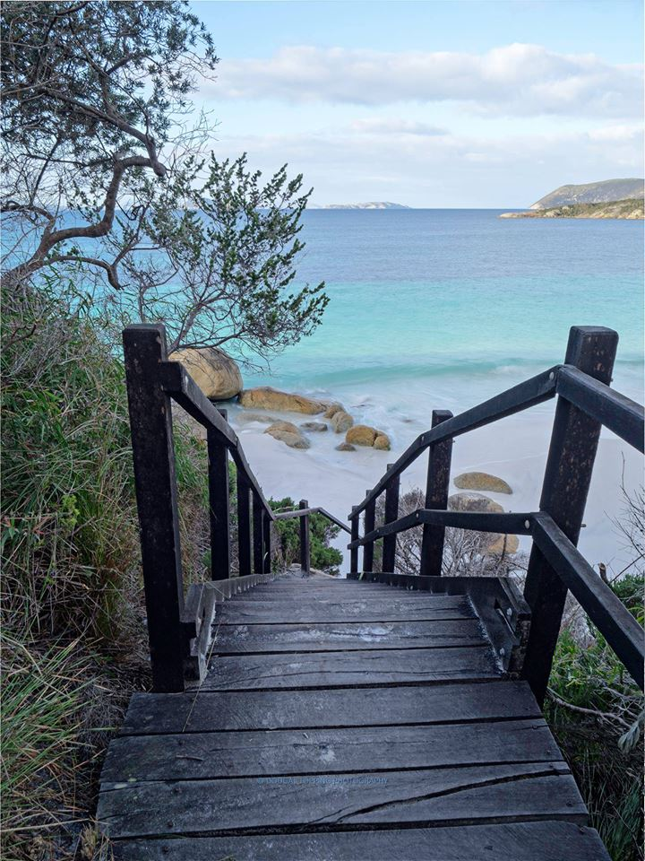 Stairway to Frenchmans Bay beach. Thank you  Dougal Topping Photography  via  Albany Region