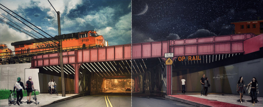 Pilot Design Installation Concept | b6 Union Street Underpass | Image by Paula Rand