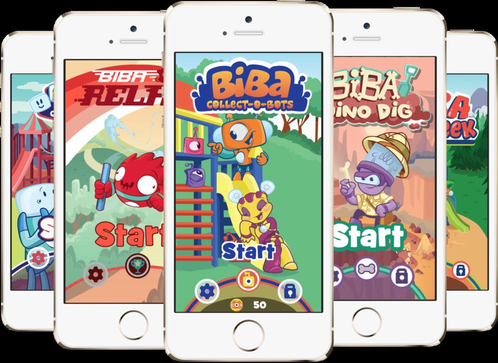 Biba: Suite of Mobile Playground Games