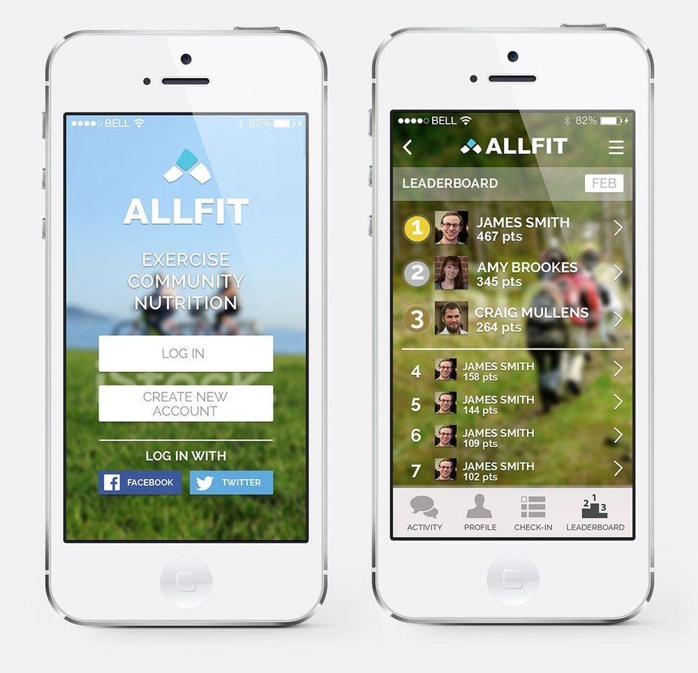 AllFit Fitness Tracker for Friends