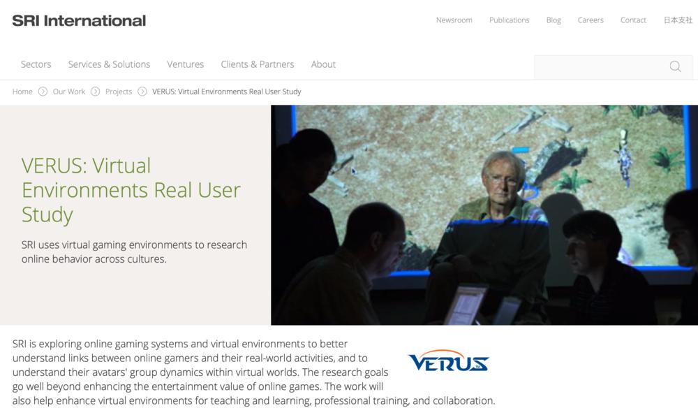 Stanford Research Institute: VERUS