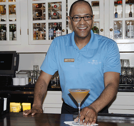 Phillip Ivey mixes Southern hospitality at its tastiest behind the bar at the Carolina Crossroads Restaurant.