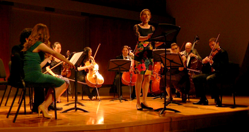 Britten's Les illuminations with the Salastina Chamber Music Society, The Colburn School, Los Angeles, CA