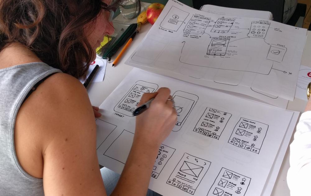 Sketching interface screens