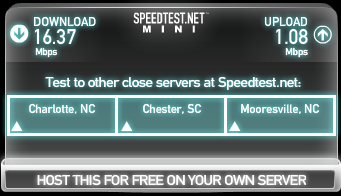 Speedtest from my house on TWC March 30, 2014