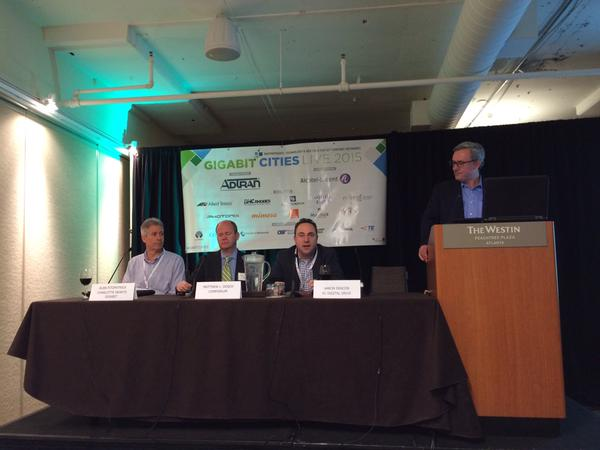 Economic Development panel - Gigabit Cities Live, Atlanta GA May 14, 2015