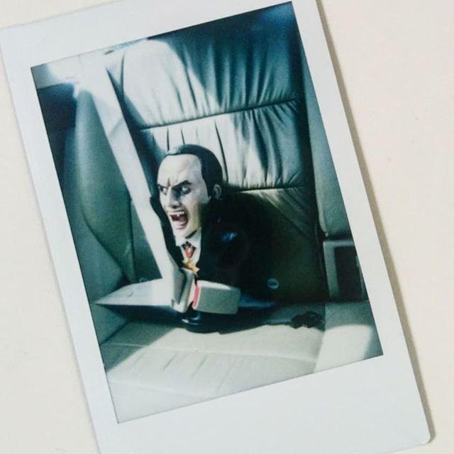 We got a new bust. Also #dracula ception. . . #dracula #vampire #goth #fuji #Instax #instantfilm #instantphotography #polaroid #blahblah #ivanttosuckyourblood #hoteltransylvania3 ?