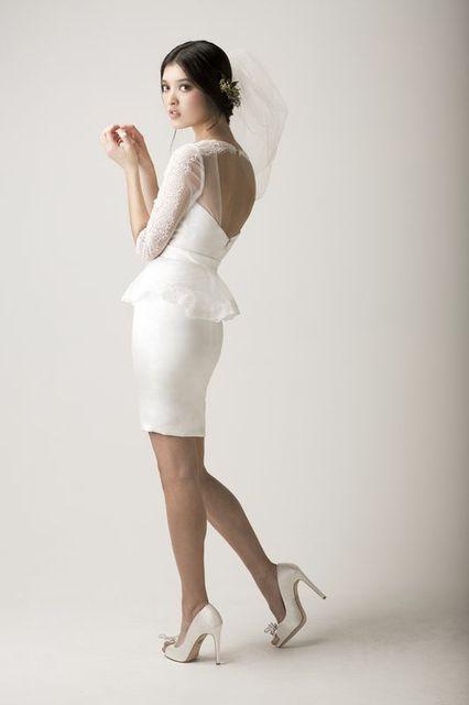 laceshortweddingdress